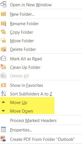 Move Up/Down folder