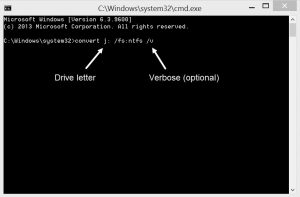 Convert file system example